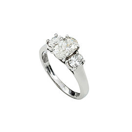 14K White Gold 1.50 Ct H-I SI1 Diamond Band Ring 3.4 Grams Size 6.25 Engagement