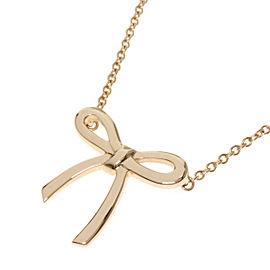 TIFFANY&Co. 18K RG Bowmini Necklace
