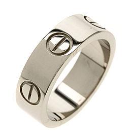 CARTIER 18K WG Love Ring Size 4.25