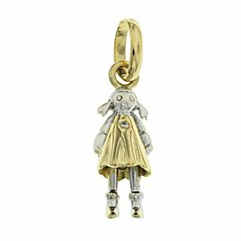 Links Of London 18K Yellow & White Diamond Girl Pendant Charm