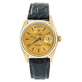 Rolex Day-Date 18078 Mens Automatic Watch 18K Yellow Gold 36mm