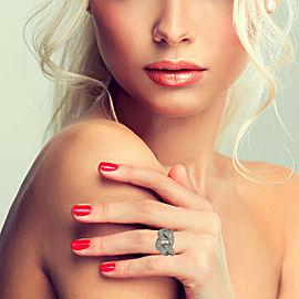 5.25 Carat 18k White Gold Diamond Curb Link Band Ring