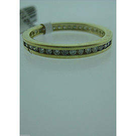 14K YELLOW GOLD DIAMOND ETERNITY BAND LADIES RING SIZE 6.75