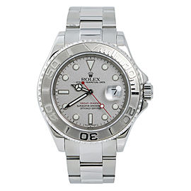 Rolex Yacht-Master 16622 Mens Automatic Watch W/Box Platinum Bezel & Dial 40mm