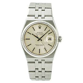 Rolex Datejust 17014 Mens OysterQuartz Watch Silver Dial Stainless Steel 36mm