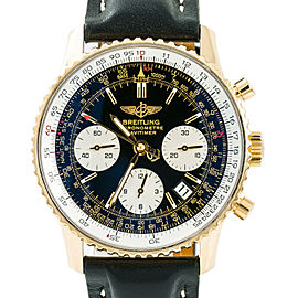 Breitling Navitimer K23322 Mens Automatic Watch Chronograph 18K YG 42mm