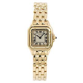 Cartier Panthere 10702 W25022B9 Womens Quartz Watch 18k Yellow Gold 22mm