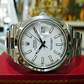 Rolex Datejust II 116300 Stainless Steel White Dial Watch