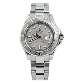Rolex Yacht-Master 16622 Mens Automatic Watch Platinum Dial & Bezel 40mm