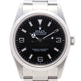 Rolex Explorer 114270 Mens Automatic Watch SS Black Dial Smooth Bezel 36mm