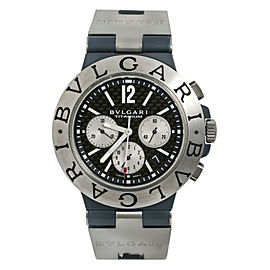 Bvlgari Diagono TI 44 TA CH Mens Automatic Watch Titanium 44mm