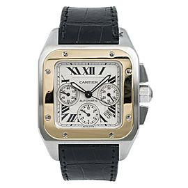 Cartier Santos 100 XL 2740 W20096Y1 Mens Automatic Watch SS 41mm