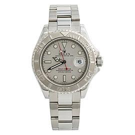 Rolex Yacht-Master 16622 1999 Mens Automatic Watch Platinum Dial & Bezel 40mm