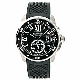 Cartier Calibre De Diver 3729 W7100056 Mens Automatic Watch With Box&Papers 42mm