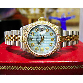 Ladies Rolex Oyster Perpetual Datejust Diamonds Stainless Steel and Gold Watch