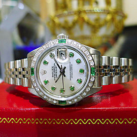 Ladies Rolex Oyster Perpetual Datejust Diamonds Stainless Steel Gold Watch