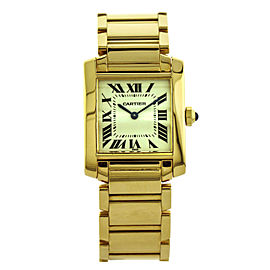 Cartier Tank Francaise 18k Yellow Gold Quartz Womens Watch