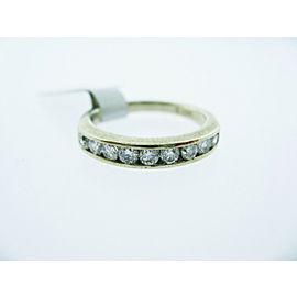 14K WHITE GOLD DIAMOND BAND LADIES RING SIZE 5