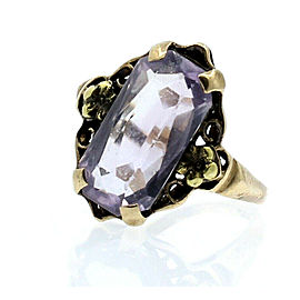 10K YELLOW GOLD VINTAGE AMETHYST LADIES RING SIZE 5.75