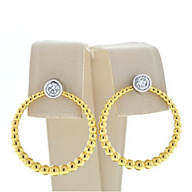 Kwiat Adorn Two Tone Diamond Stud Hoop Earrings