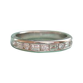 Tiffany & Co. Platinum & 0.66ct Diamond 1/2 Circle Ring Size 7