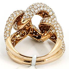 5.07 Carat 18 Karat Rose Gold Diamond Curb Link Band Ring