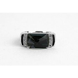 BACCARAT LOUXOR ST. SILVER DIAMOND BLACK MORDORE MEDIUM RING SIZE 5.5 US 51 NEW
