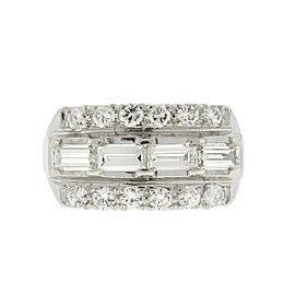 Platinum Vintage Diamond Ladies Ring Approx 2.00 Cts