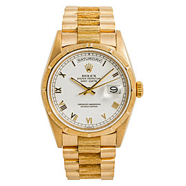 Rolex Day-Date Bark President 18248 Automatic Watch With Papers 18K Gold 36mm