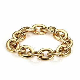 "Roberto Coin 18k Rose Gold Oval Chain Link Bracelet 8"" Long"