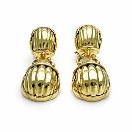 Tiffany & Co. Two Scarab Beetle 18k Gold Drop Dangle Earrings