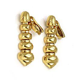 Bulgari Celtica 18k Yellow Gold 5 Tier Long Drop Dangle Earrings