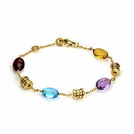 Bulgari B.zero1 Multicolor Gems 18k Yellow Gold 7 Station Chain Bracelet