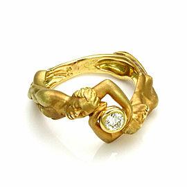 Carrera y Carrera Adam & Eve Diamond Nude Man & Woman 18k Yellow Gold Ring