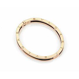 Bulgari B.zero1 Black Ceramic & 18k Pink Gold Bangle Bracelet
