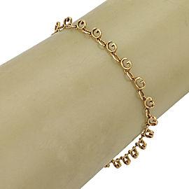 Gucci Logo G links 18k Yellow Gold Bracelet