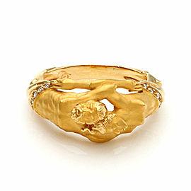 Carrera y Carrera Diamond Adam & Eve 18k Yellow Gold Band Ring