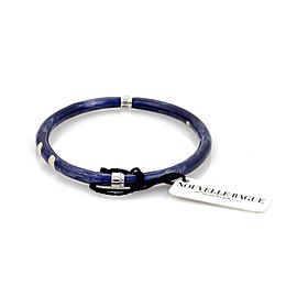 Nouvelle Bague Diamond Blue Enamel 18k Gold/Sterling Bracelet