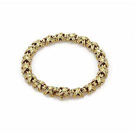 Tiffany & Co. Signature X Link 18k Yellow Gold Bracelet