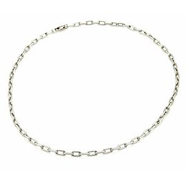 Cartier Spartacus 18k White Gold Oval Link Chain w/Polish Paper