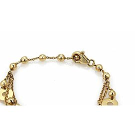 Bulgari Lucia 18k Yellow Gold Triple Strand Assorted Shape Chain Bracelet