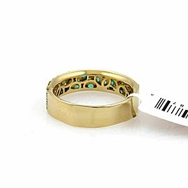 Ippolita Stardust Emerald 18k Yellow Gold 5.5mm Wide Band Ring Rt. $2,995