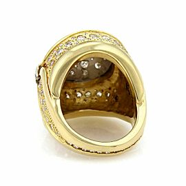Estate 2.00ct Diamond 18k Two Tone Gold Fancy Dome - Ring Size 8