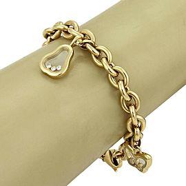 Chopard Happy Diamond 4 Charms Oval 18k Yellow Gold Chain Bracelet