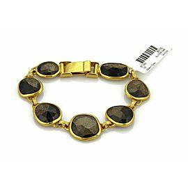 Gurhan 68.20ct Brown Sapphire 24k Gold Fancy Link Bracelet Rt. $9,550