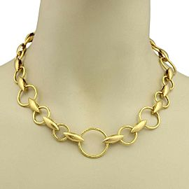 Gurhan WHEATLA 24k Gold Hammered Circles & Wheat Link Necklace Rt. $19,150