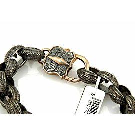 Stephen Webster Highwayman Men's Sterling Silver Fancy Textured Bracelet