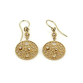 Roberto Coin Moresque Yellow Gold Diamond Dangle Hook Earrings