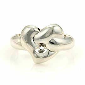 Tiffany & Co. Peretti Knotted Heart Sterling Silver Cuff Band Bracelet