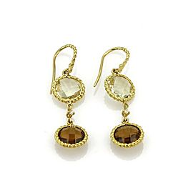 Roberto Coin Ipanema Diamond & Gems 18k Yellow Gold Dangle Earrings